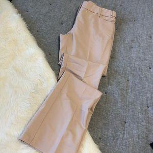 Express light pink columnist straight trousers sz4